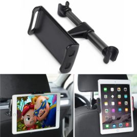 Car Headrest Mount, DLIUZ Universal Car Seat Tablet Mount Holder for iPad, Samsung Galaxy, Nintendo Switch (Black)