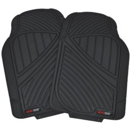 Motor Trend FlexTough Baseline – Heavy Duty Rubber Car Floor Mats, 100% Odorless & BPA Free, All Weather (Black)